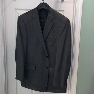 Stafford Mens 44L Classic Fit Gray Wool Sport Coat